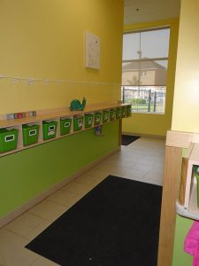 Toddler Cubbies & Hallway